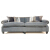 John Sankey Tolstoy Sofa in Grey Wool Fabric with Velvet Piping