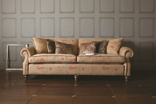John Sankey Tolstoy Sofa in Toulon Antique Floral Fabric