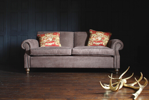 John Sankey Tolstoy Sofa in Apollinaire Saddle Fabric