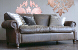 John Sankey Tolstoy Sofa in Hawker Peat Full Leather with Brass Arm Studs
