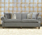 John Sankey Tolstoy Sofa in Milligan Charcoal Fabric with Velvet Piping