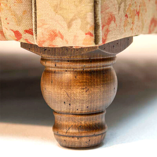 John Sankey Tolstoy Sofa Legs Detail in Antique Oak Finish