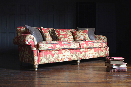 John Sankey Tolstoy Sofa in Clarence Pimento Fabric