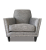 John Sankey Tuxedo Club Chair in Hudson Nero Fabric with Studding Front View