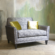 John Sankey Tuxedo Club Snuggler from Kings Interiors - the ideal place for luxury handmade British upholstery, bespoke furniture and top brand flooring at best prices in UK