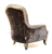 John Sankey Upholstery Alphonse Chair in Brown Velvet Fabric with Leather Border and Studding