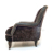 John Sankey Upholstery Alphonse Chair in Brown Velvet Fabrics with Leather Border and Studs