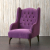 John Sankey Upholstery Buckingham Wing Chair in Tate Velvet Blackberry Fabric