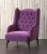 John Sankey Buckingham Wing Chair in Tate Velvet Blackberry Fabric