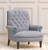John Sankey Upholstery Crawford Chair in Gilbert Basalt Fabric with Studding Details