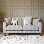 John Sankey Voltaire Classic Back Small Sofa from Kings Interiors - the ideal place for luxury handmade British upholstery, bespoke furniture and top brand flooring at best prices in UK