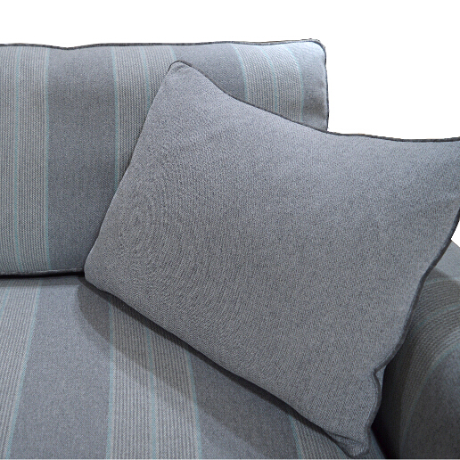 John Sankey Voltaire Sofa in Wool Plaid Fabric Cushion Detail