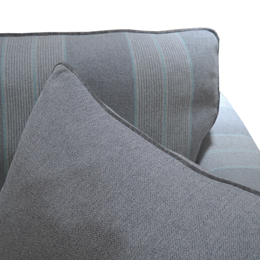 John Sankey Voltaire Sofa in Wool Plaid Fabric Detail