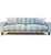 John Sankey Voltaire Sofa in Wool Plaid Fabric