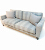 John Sankey Voltaire Sofa in Wool Plaid Fabric with Milligan Charcoal Arms