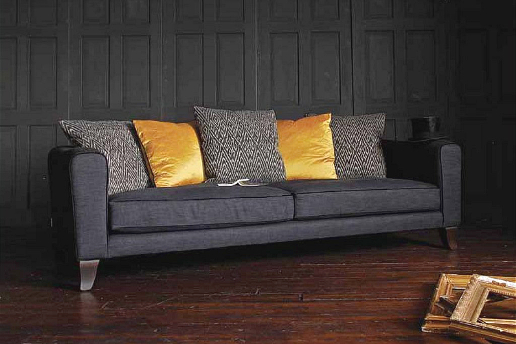 John Sankey Voltaire Sofa with Contrast Scatter Cushions