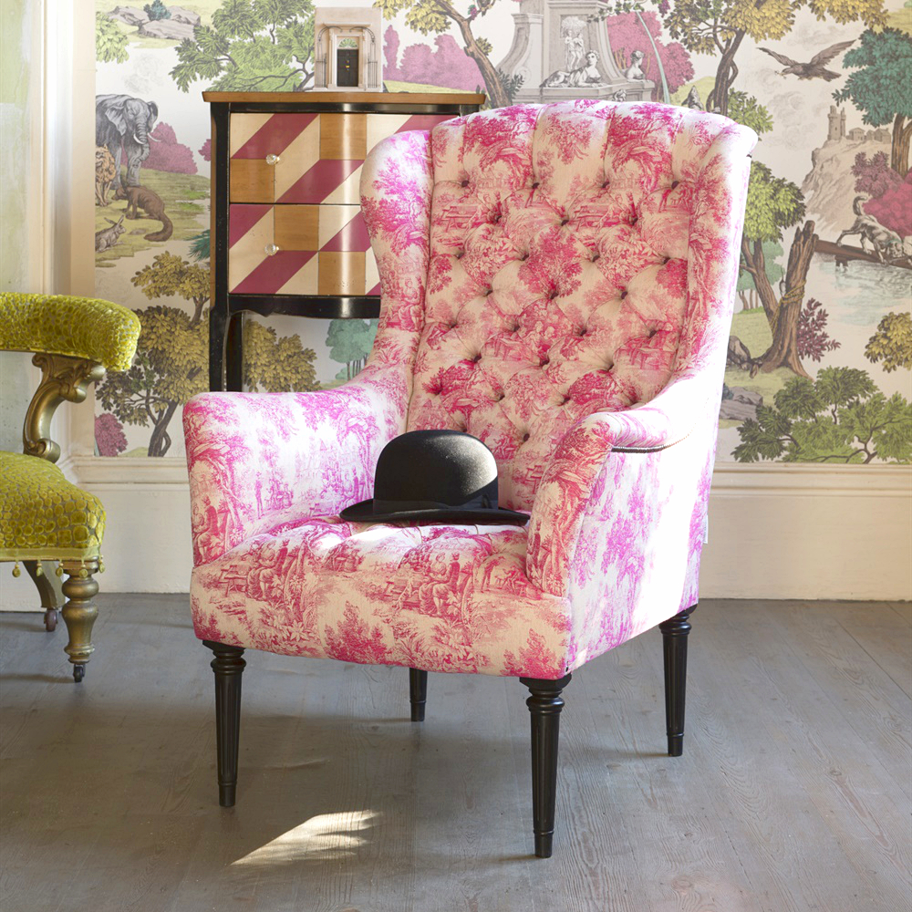 Pink Upholstered Chair Uk Nice Interior For Girly Office