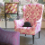 John Sankey Wainwright Chair in Bizet Hot Pink and Elsa Moire Electric Pink Fabrics