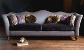 John Sankey Wolseley Grand Sofa in Velvet Fabrics with Contrast Seat and Circular Cushions