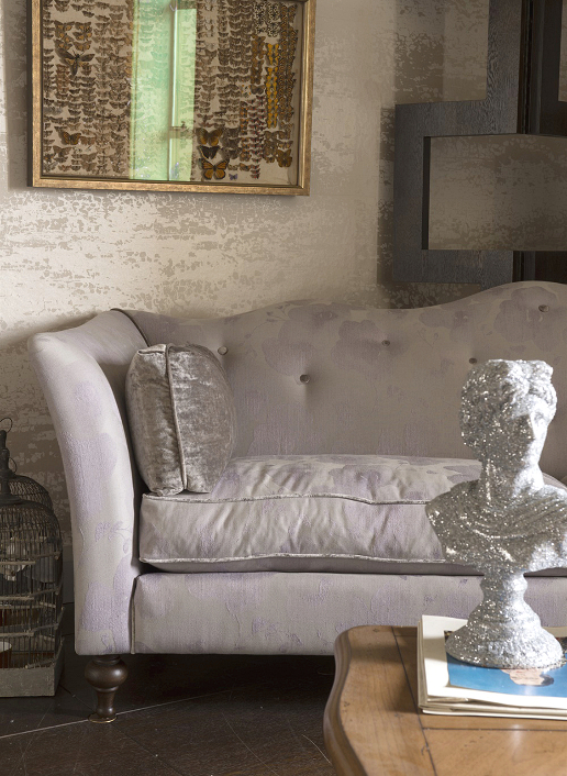 John Sankey Wolseley Sofa in Babington Rose Quartz Fabric