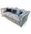 John Sankey Wolseley Sofa in Legacy Bermuda Fabric with Blue Velvet Scatter Cushions