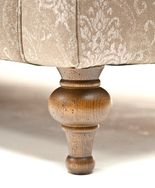 John Sankey Wolseley Sofa Leg in Distressed Oak Wood Finish Detail