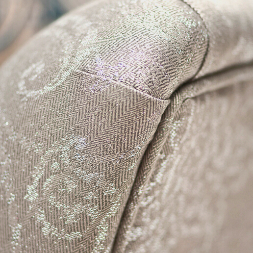 John sankey Wolseley Sofa in Legacy Macadamia Fabric Arm Detail