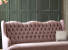 John Sankey Constantine Large Sofa in Tate Velvet Rose Fabric Button Back Detail