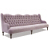 John Sankey Constantine Royal Sofa in Tate Velvet Rose Fabric