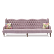 John Sankey Constantine Royal Sofa in Velvet Fabrics from Kings Interiors - the Ideal Place for Luxury Handmade British Upholstery, Furniture and Flooring, Best Prices and Free Delivery in the UK