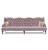 John Sankey Constantine Royal Sofa in Tate Velvet Rose Fabric with Floral Scatter Cushions