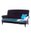 John Sankey Partridge Sofa in Harlequin Amazilia Velvet Lagoon Raspberry Fabric