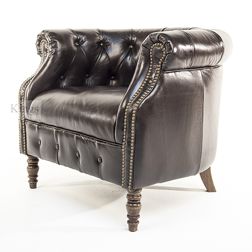 Alexander and James Jude Leather Tube Chair