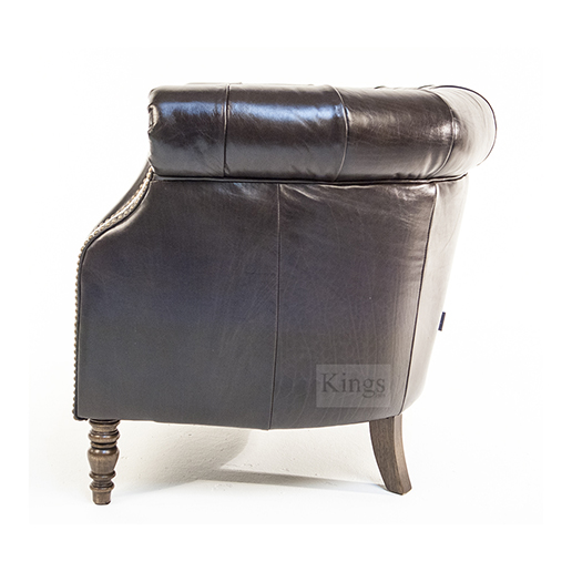 Alexander and James Jude Leather Tube Chair 4