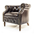 Alexander and James Jude Leather Tube Chair 6