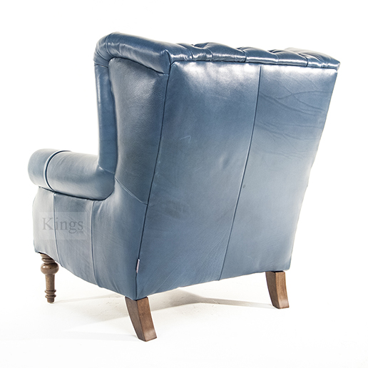 Alexander and James Theo Chair in Aqua Leather 3