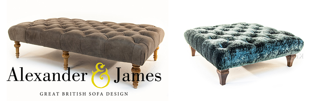 Alexander and James Footstools