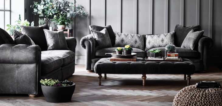 Alexander and James Sofas Victoria Foot Stools Collection at Kings Interiors - Quality Handmade Home Upholstery Retailer based in Nottingham. Best Prices and Free Delivery in the UK