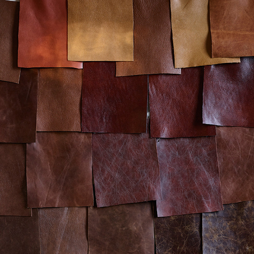 Alexander & James Sofas Bailey Collection Leather Samples Detail