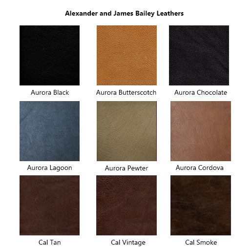Alexander & James Sofas and Chairs Collection Leather Samples Colour Swatches Vol 2