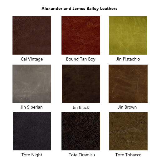 Alexander & James Sofas and Chairs Collection Leather Samples Colour Swatches Vol 3