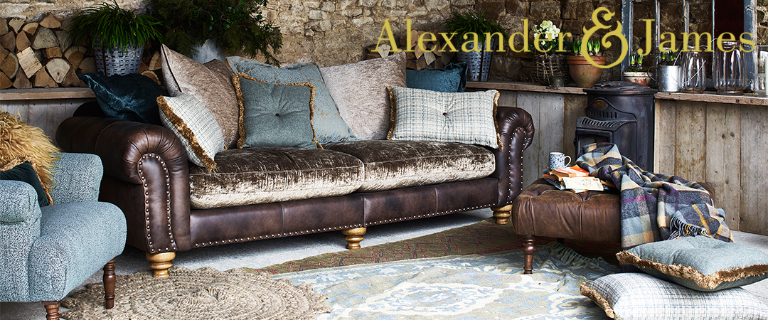 Alexander and James Bloomsbury Sofa Collection at Kings Interiors - Quality Handmade Home Upholstery Retailer based in Nottingham. Best Prices and Free Delivery in the UK