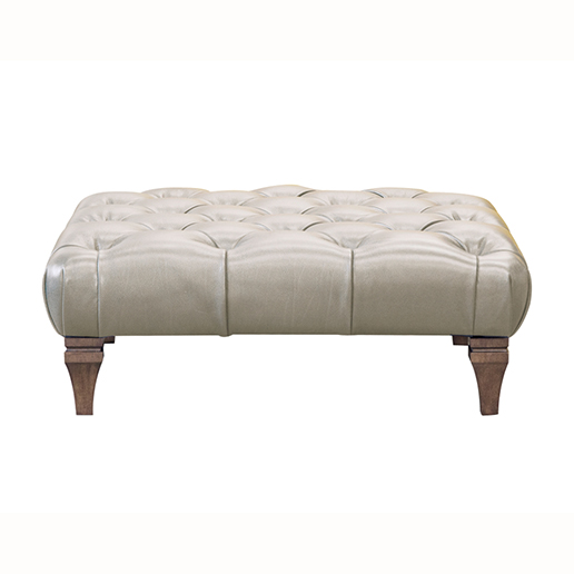 Alexander & James Isabel Leather Footstool