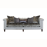 Alexander & James Isabel Maxi Sofa Leather and Fabric (PremierCare Warranty Included) at Kings Interiors - Quality Handmade Home Upholstery Retailer based in Nottingham. Best Prices and Free Delivery in the UK