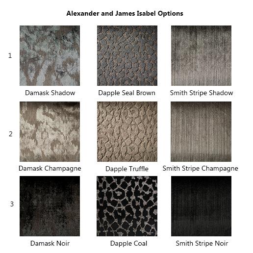 Alexander and James Isabel Fabric Options
