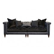 Alexander & James Isabel Maxi Split Sofa Leather and Fabric (PremierCare Warrenty Included)