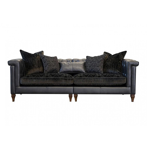 Alexander and James Isabel Maxi Split Sofa Leather and Fabric (PremierCare Warrenty Included)