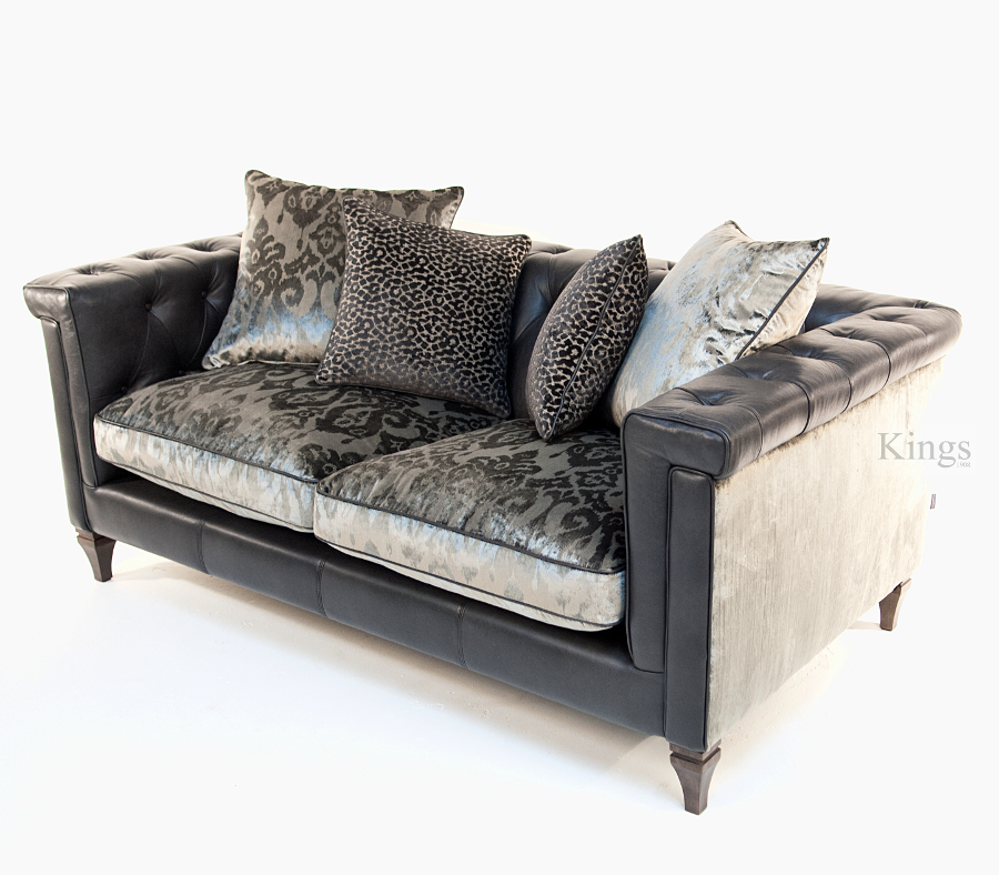 Alexander Amp James Isabel Midi Sofa Leather And Fabric