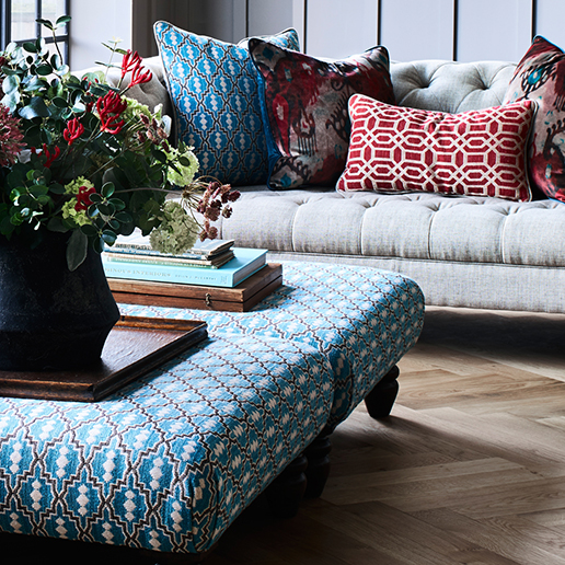 Alexander and James Artisan Footstool 3