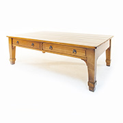 Charles Barr Solid Cherry Coffee Table with Drawers